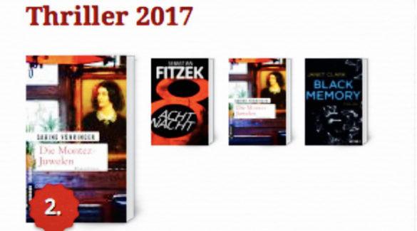 Sabine Vöhringer, Die Montez-Juwelen, Lovelybooks, 2. Platz