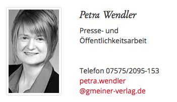 sabine Voehringer, Presse-Ansprechpartner, Petra Wendler, Sabine Vöhringer