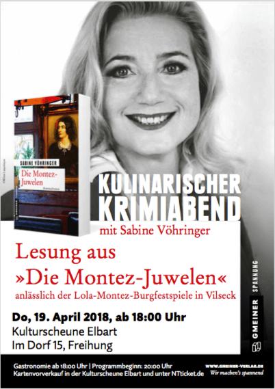 Kulinarischer Krimiabend mit Sabine Vöhringer
