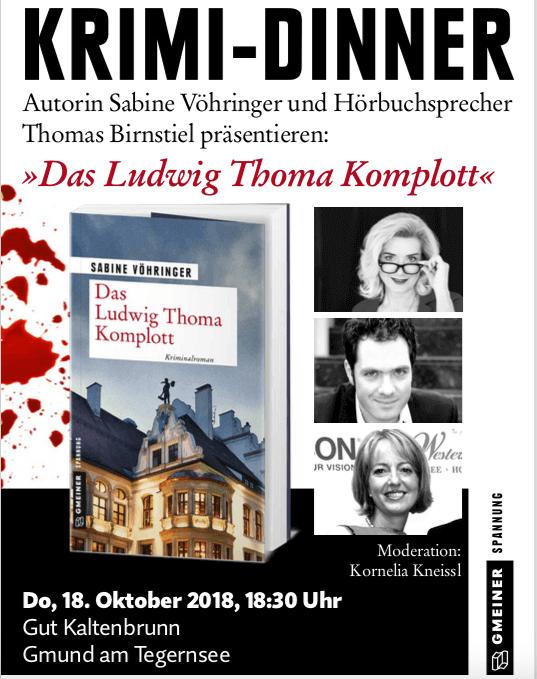Krimi Dinner Sabine Voehringer, Tegernsee, Gut Kaltenbrunn, Thomas Birnstiel,