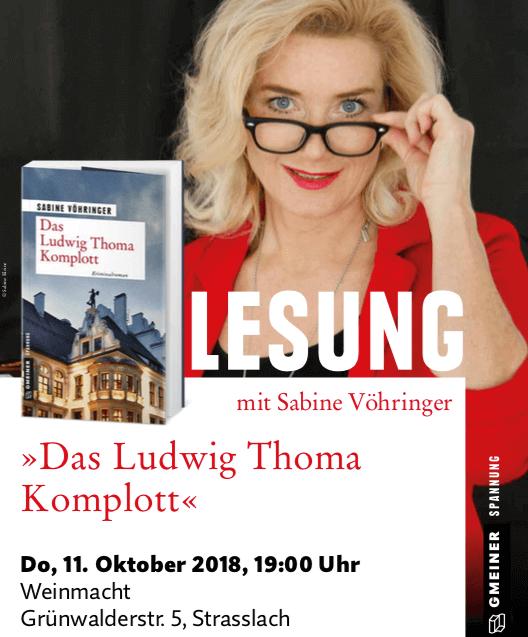 Lesung Das Ludwig Thoma Komplott Weinmacht, Sabine Vöhringer, Strasslach