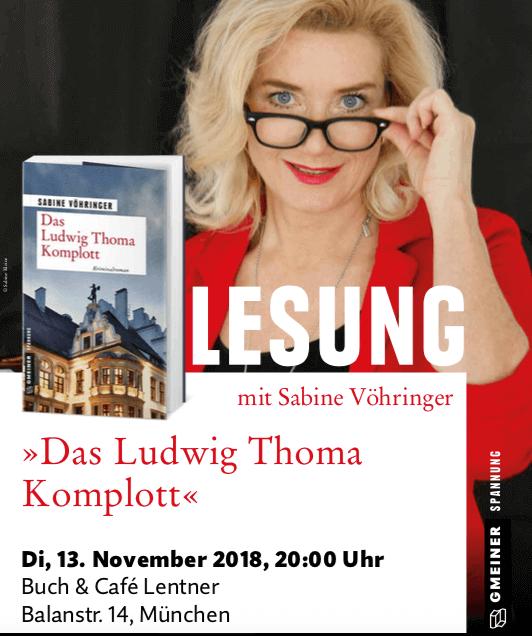 Lesung das Ludwig Thoma Komplott Sabine Voehringer, Lentner