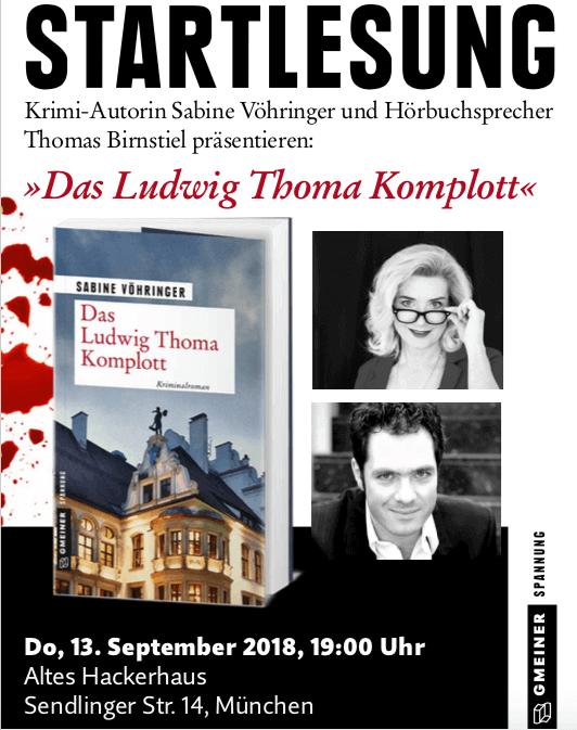 Startlesung Das Ludwig Thoma Komplott, Sabine Voehringer, Thomas Birnstiel Hackerhaus