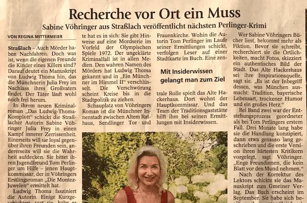 Sabine Vöhringer Münchner Merkur Das Ludwig Thoma Komplott