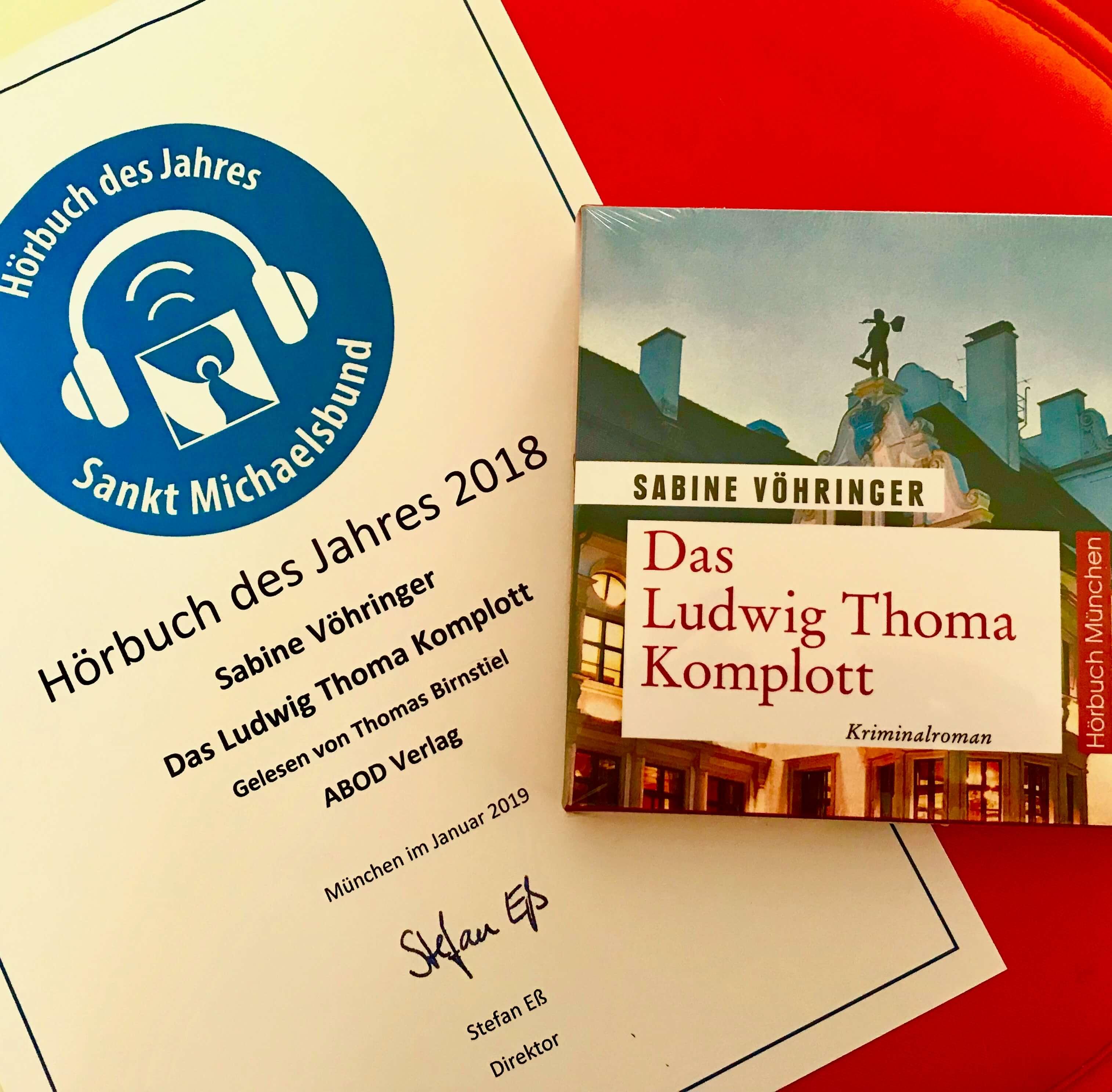 Sabine Vöhringer Das Ludwig Thoma Komplott, Hörbuch des Jahres