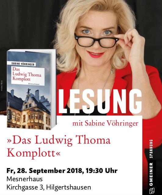 Lesung Das Ludwig Thoma Komplott, Sabine Voehringer, Hilgertshausen