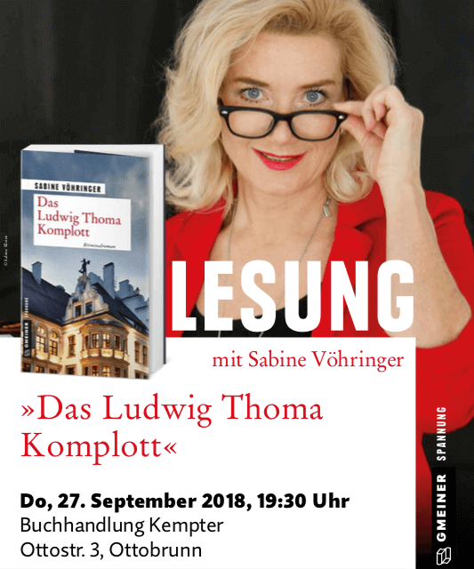 Lesung Das Ludwig Thoma Komplott Sabine Voehringer, Kempter