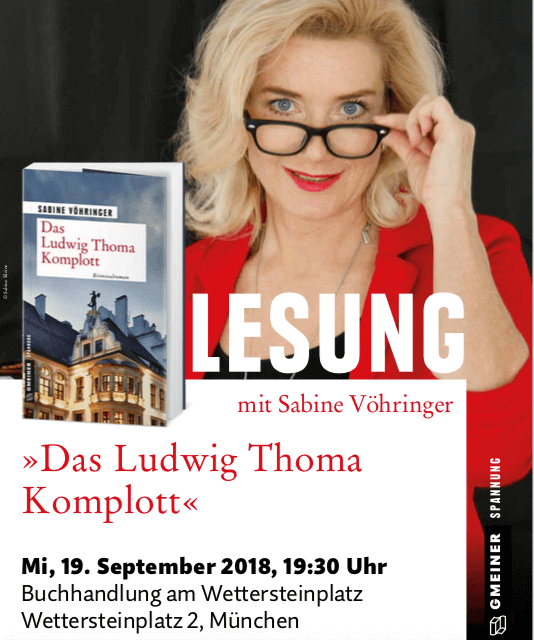 Lesung Das Ludwig Thoma Komplott Wettersteinplatz, Sabine Voehringer