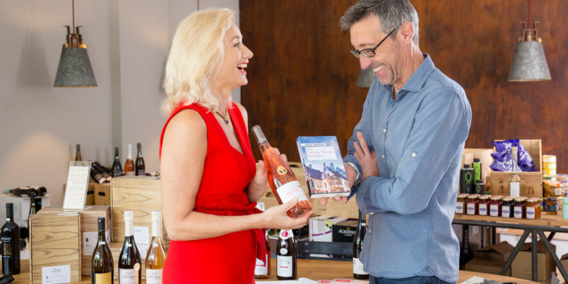 Lesung bei Weinmacht in Strasslach das Ludwig Thoma Komplott Sabine Vöhringer