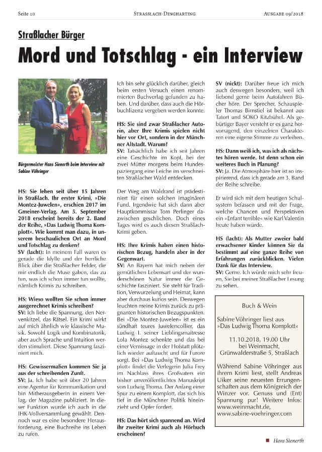 Sabine Voehringer Interview Strasslach Hans Sienerth