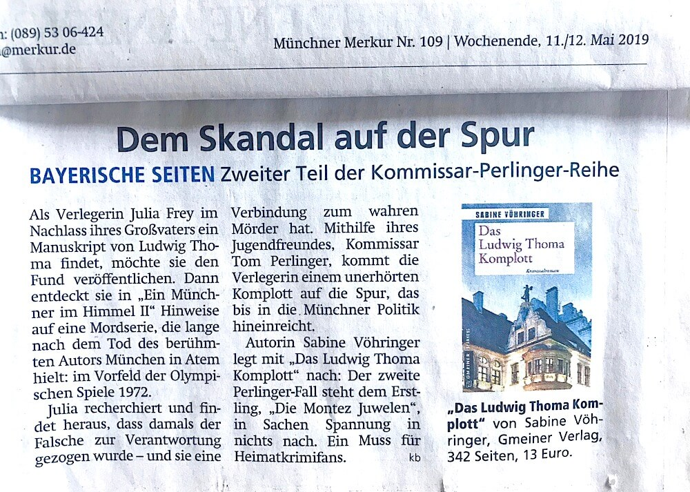 Das Ludwig Thoma Komplott Münchner Merkur