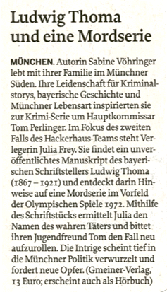 Sabine Vöhringer, Mittelbayerische Zeitung