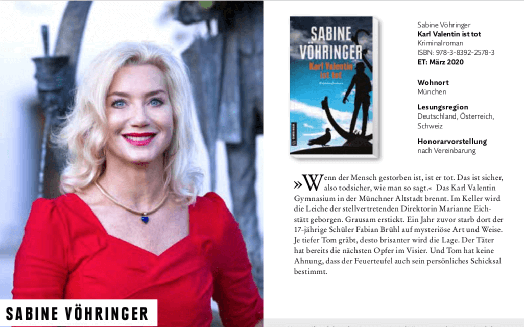 Sabine Voehringer Lesung