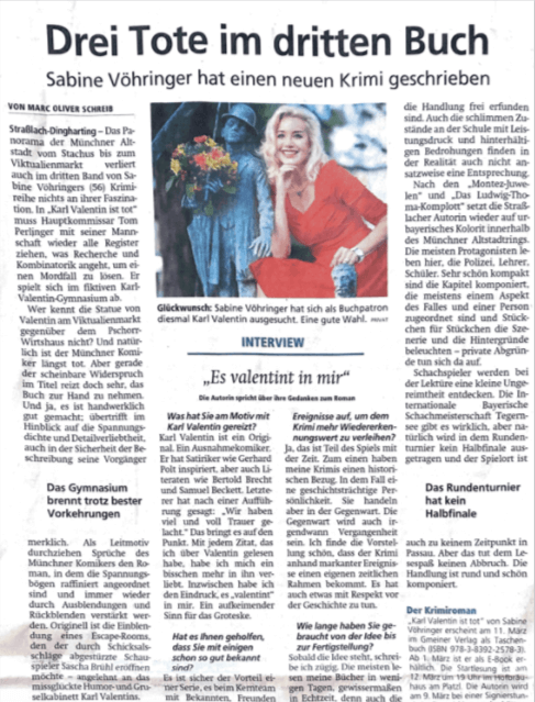 Sabine Vöhringer Münchner merkur Karl Valentin